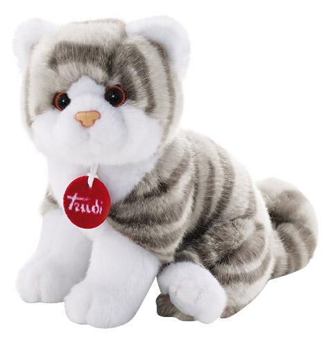 Мягкая игрушка Trudi Котёнок Брэд (серо-белый), 24 см