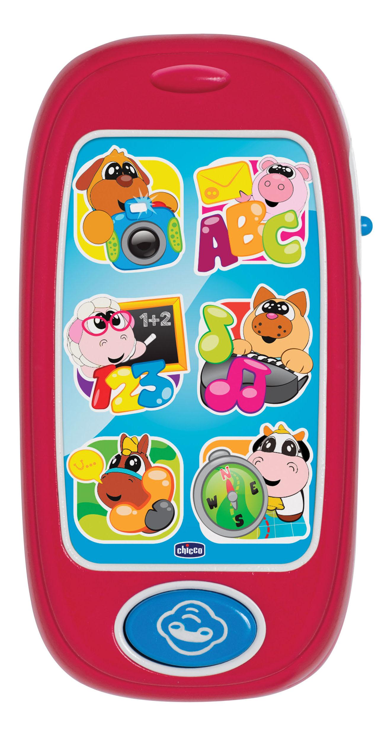Музыкальная игрушка Chicco Говорящий Смартфон АВС 60077 фото