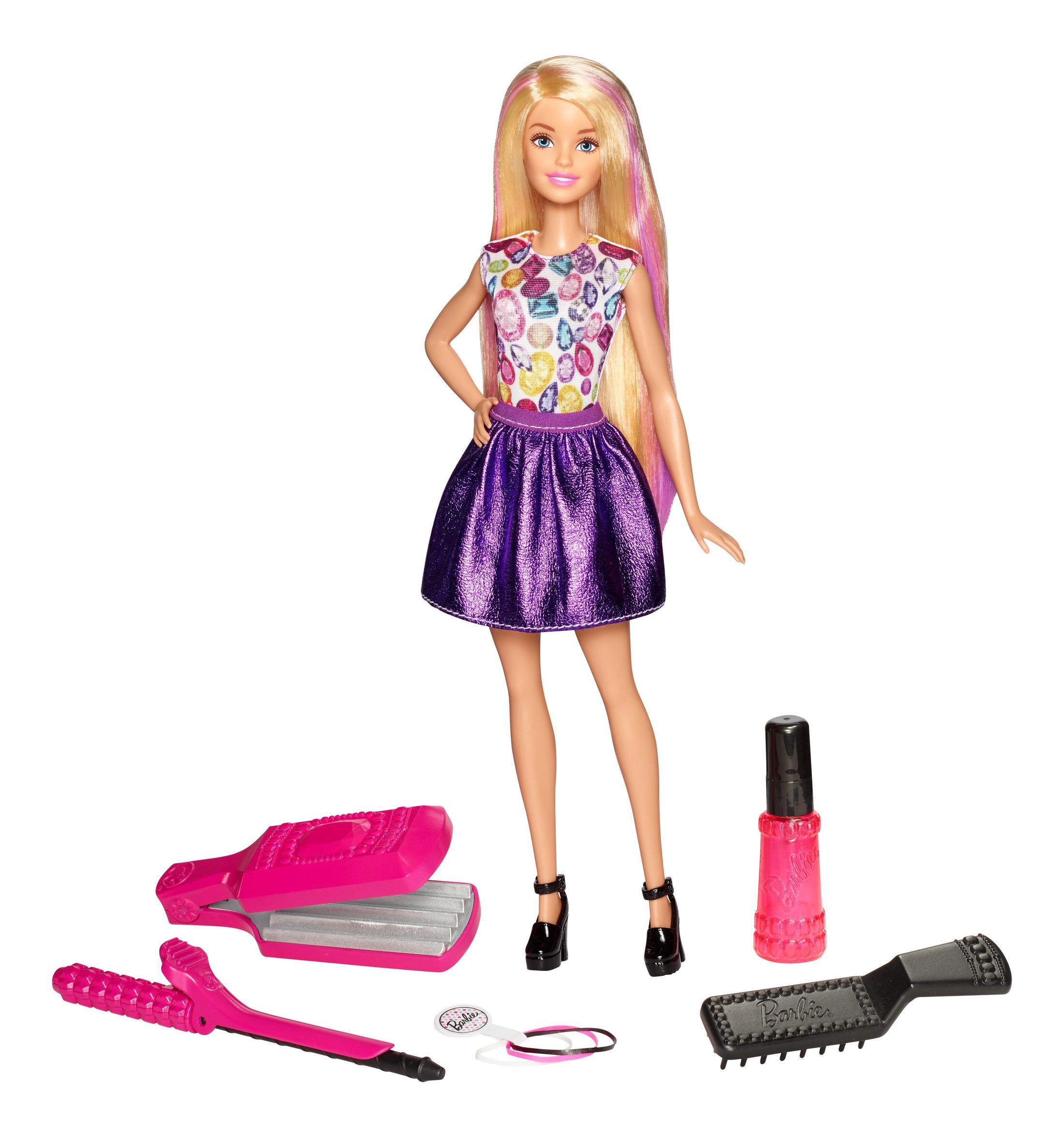 Игровой набор Barbie Цветные локоны с куклой