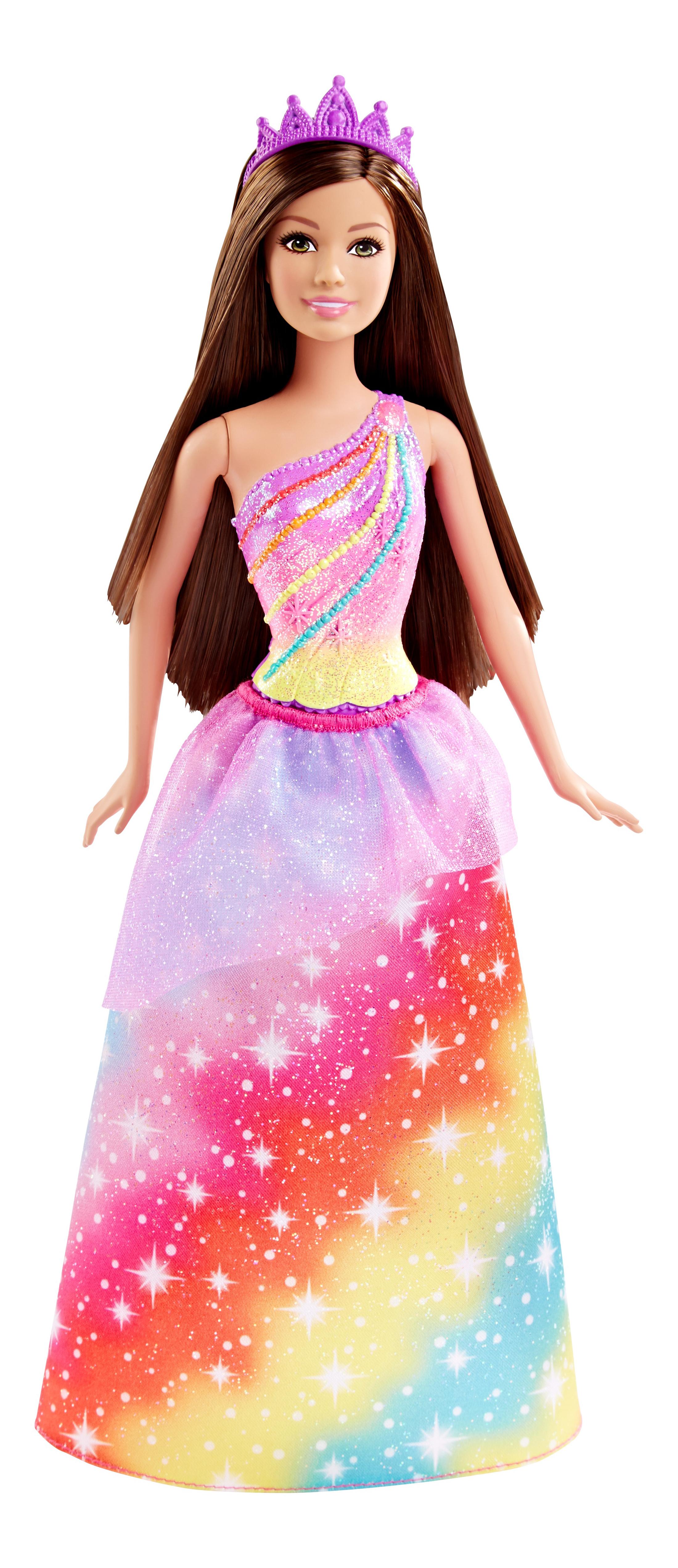 Купить Princess Rainbow Doll, Кукла Barbie Принцесса DHM49 DHM52, Куклы Barbie