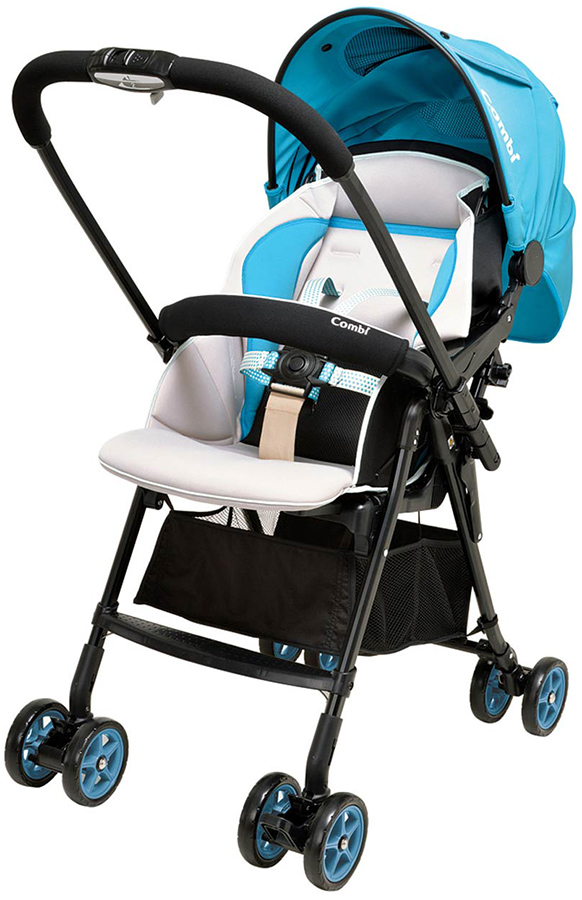 Купить Прогулочная коляска Combi Well Comfort BL голубой, Коляски книжки