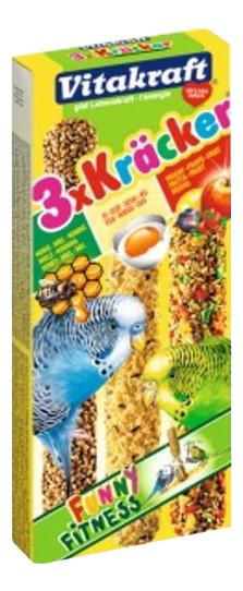 Лакомства для птиц Vitakraft крекеры для попугаев, мед, яйцо, фрукты фото