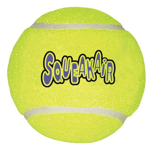 Апорт для собак KONG Теннисный мяч, зеленый, длина 10 см фото