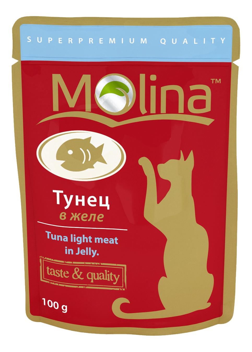Влажный корм для кошек Molina, тунец, 100г
