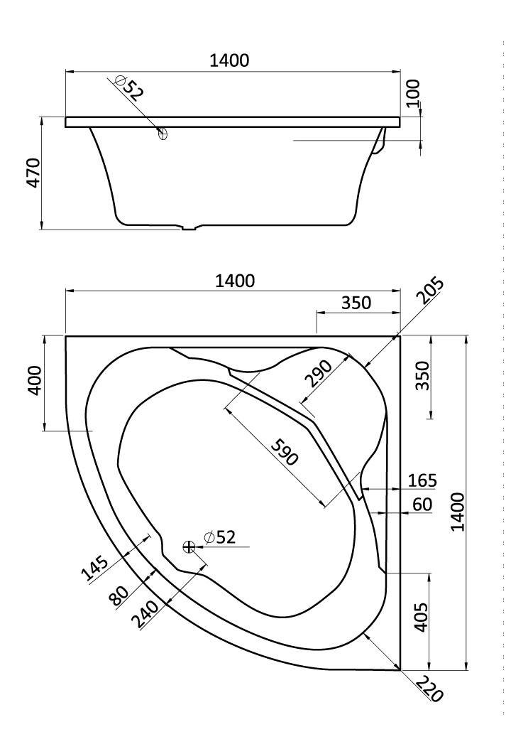 Комплект монтажный Santek для ванны Карибы 140х140см белый (WH112430)