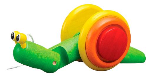 Купить Каталка Улитка, Каталка Plan Toys Улитка , PlanToys, Игрушки-каталки