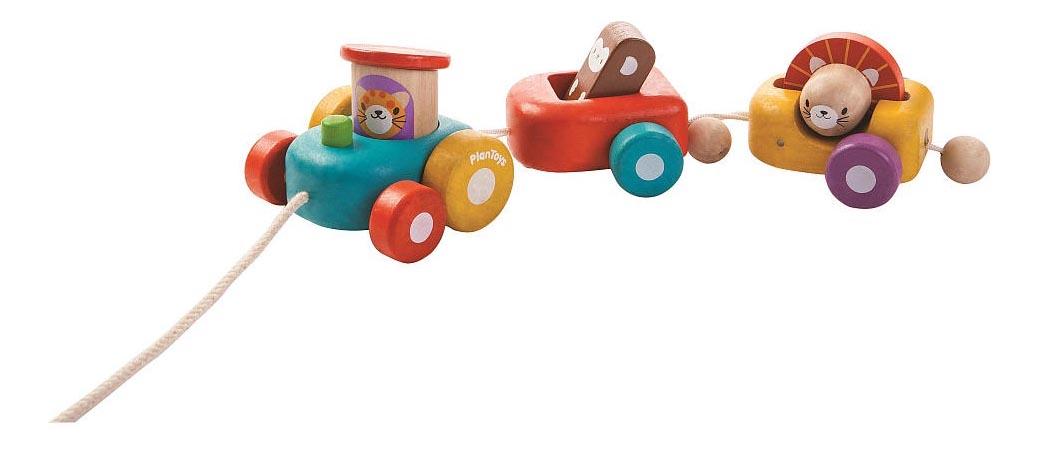 Купить Веселый двигатель, Деревянная игрушка для малышей PlanToys Веселый двигатель , Развивающие игрушки