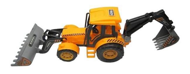 Купить Truck желтый, Трактор инерционный, Junfa toys, Строительная техника