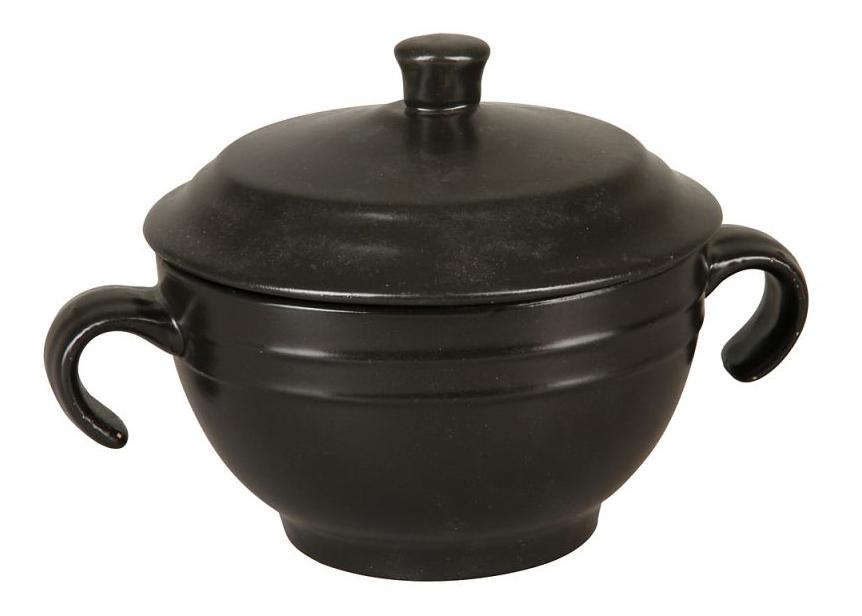 Супница с крышкой (черная)