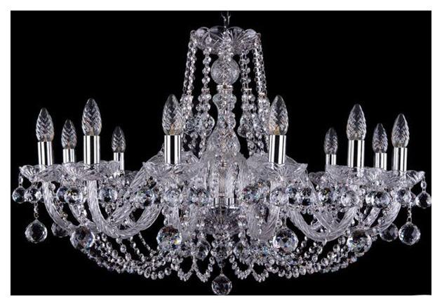 Люстра подвесная Bohemia Ivele Crystal 1406/12/300/Ni/Balls фото