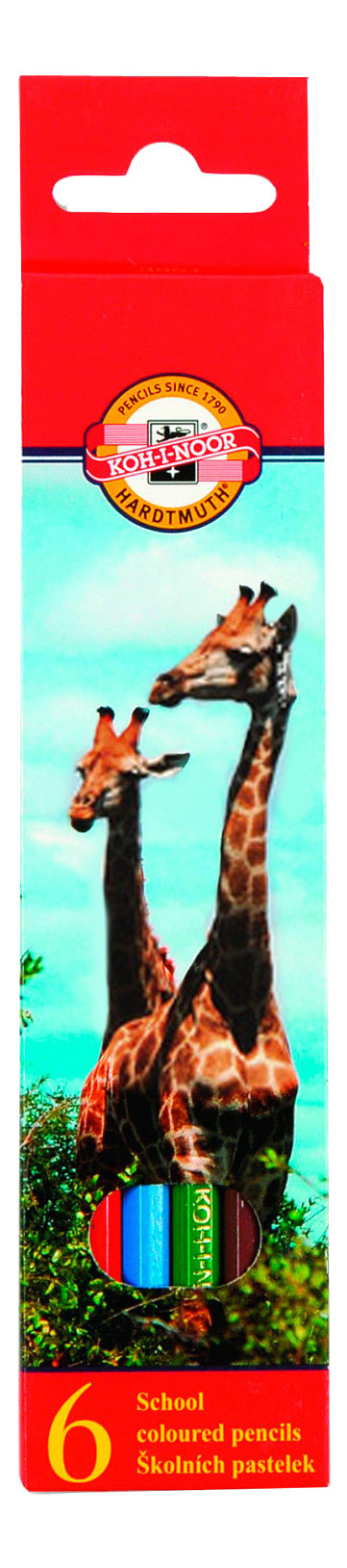 Карандаши цветные KOH-I-NOOR Животные 6 цветов