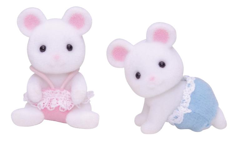 Купить Игровой набор Sylvanian Families Белые Мышата-двойняшки, Игровые наборы