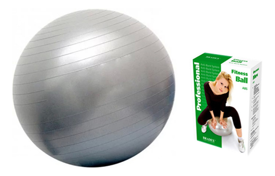 Мяч гимнастический Bradex Фитбол-65, серебристый, 65 см фото