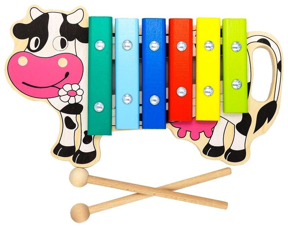 Ксилофон игрушечный Alatoys Корова 6 нот КС0601 фото