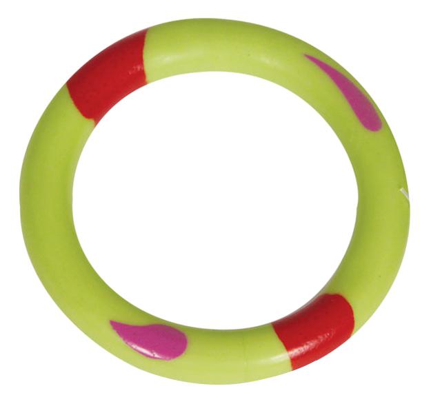 Жевательная игрушка для собак Triol Кольцо из резины, зеленое, 8,5 см