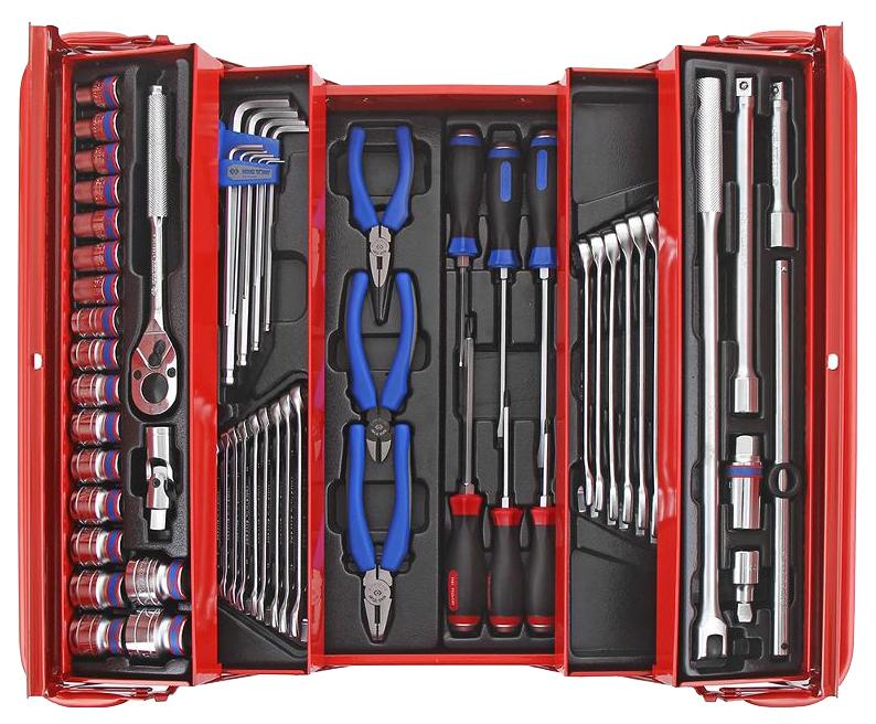 Набор столярно-слесарного инструмента KING TONY 902-062MR универсальный раскладной ящик 62 предмета 902-062MR