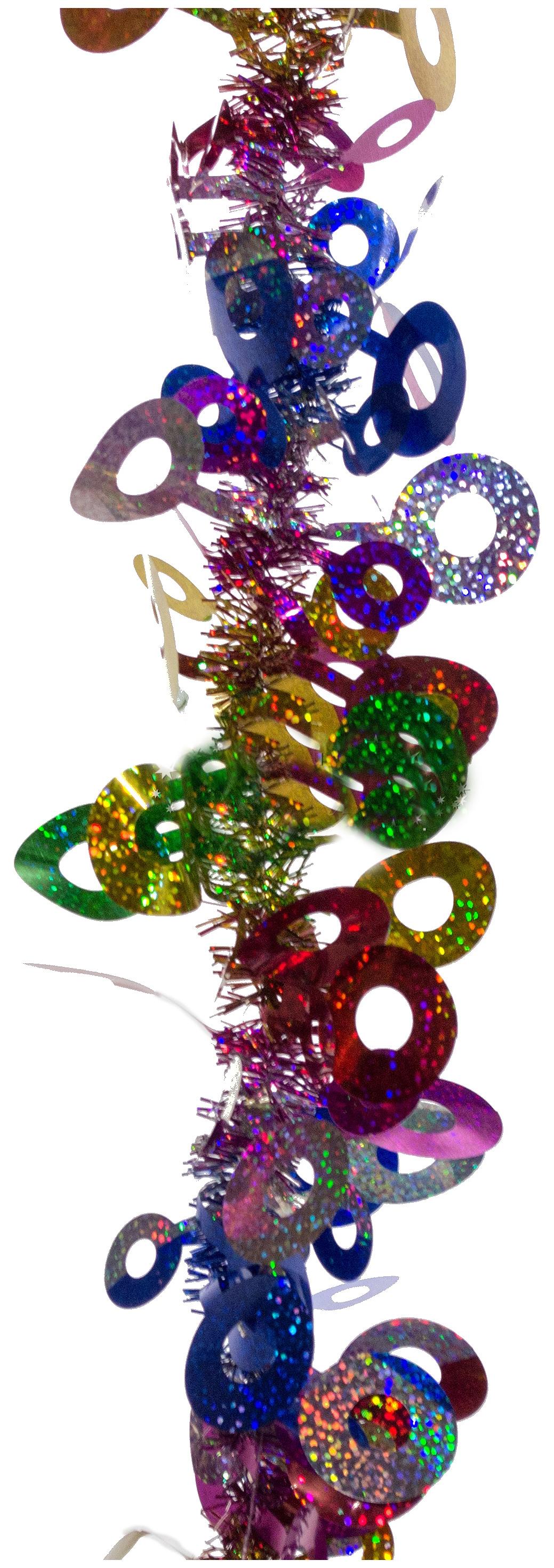 Мишура Kaemingk Игривые колечки 434658 Разноцветный