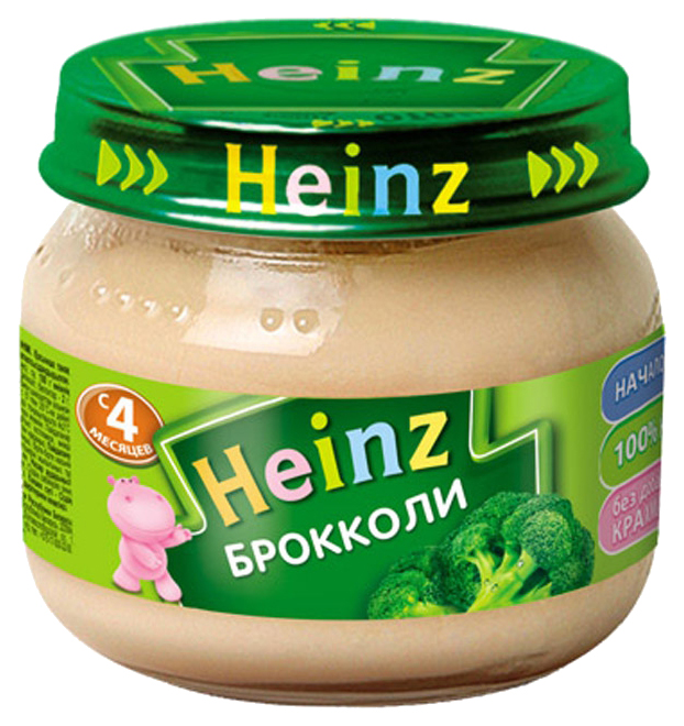 Купить Брокколи 80 г, Пюре овощное Heinz Брокколи с 4 месяцев 80 гр, Овощное пюре
