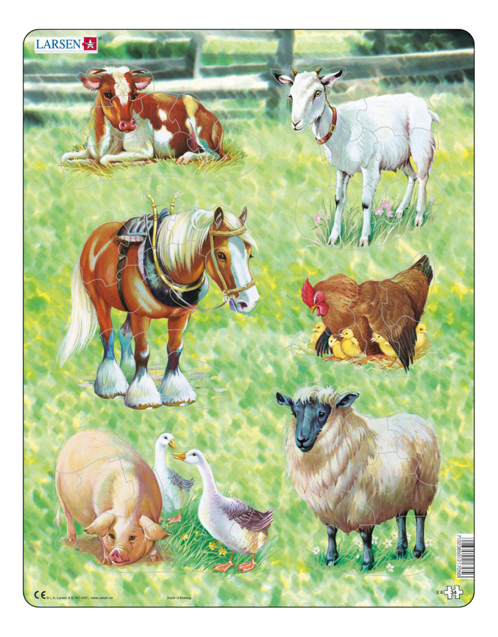 Купить Пазл Домашние животные 34 элем. Larsen X8, Пазлы