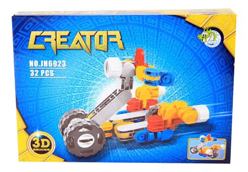 Купить Конструктор Мотоцикл Dragon Toys Страйп 32 дет., Конструкторы пластмассовые