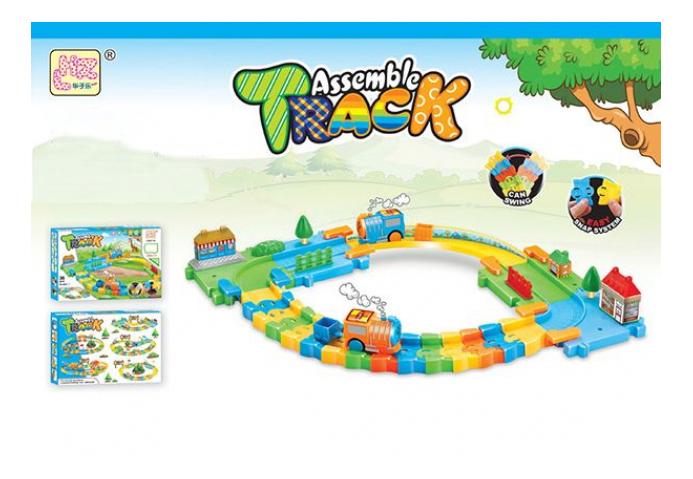 Купить Железная дорога Трек с Паровозиками Assemble Track Gratwest Б82967, Детские железные дороги