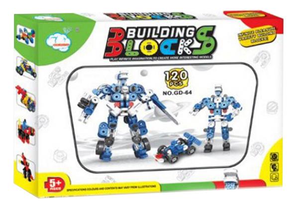 Купить Конструктор building blocks робот 120 деталей Г79338, Конструктор Building Blocks рРобот 120 деталей Gratwest Г79338, Конструкторы пластмассовые