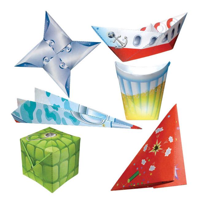 Набор фигурок Оригами для мальчишек Клеvер Р38347