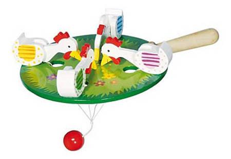 Купить Деревянная игрушка Птичий двор Рыжий кот ид-6045, Развивающие игрушки