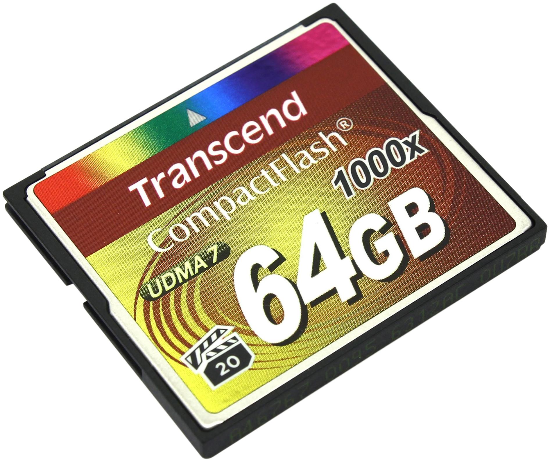 Карта памяти Transcend Compact Flash TS64GCF1000 64GB