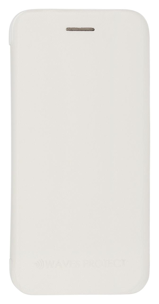 Чехол Waves Protect кожаный для iPhone 7 Plus, 8 Plus white