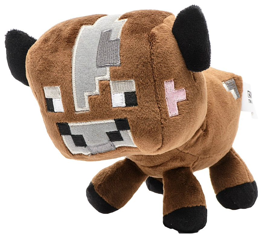 Купить Мягкая игрушка Jazwares из плюша Детеныш коричневой грибной коровы Minecraft 18 см, Мягкие игрушки персонажи