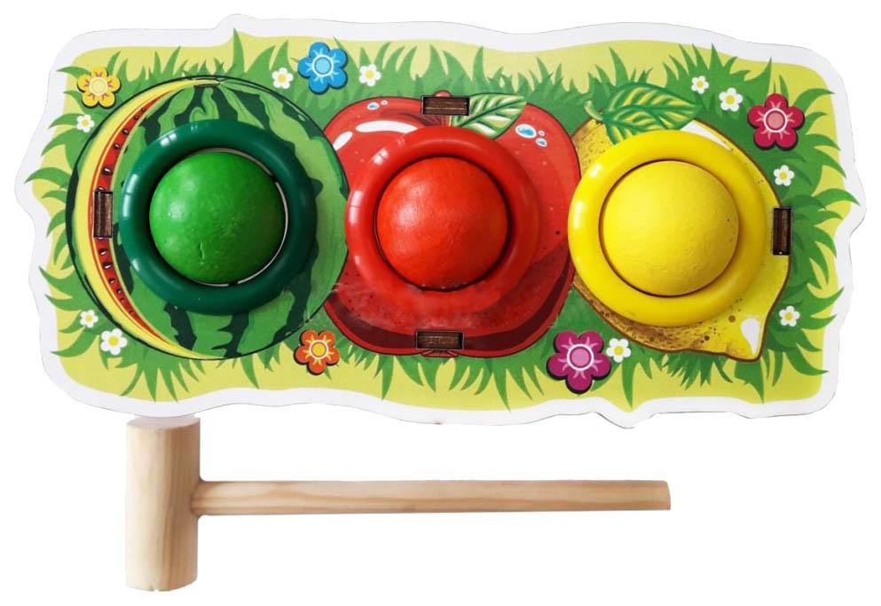 Развивающая игрушка Woodland Стучалка цветная Фрукты 115209