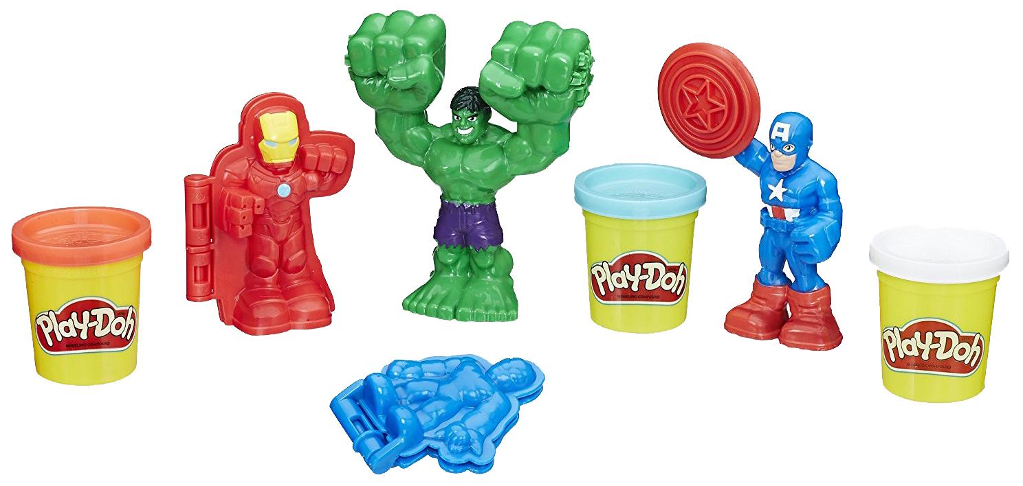Купить Play-doh герои марвел e0375, Игровой набор Marvel Hasbro Play-Doh Герои Марвел E0375, Фигурки MARVEL
