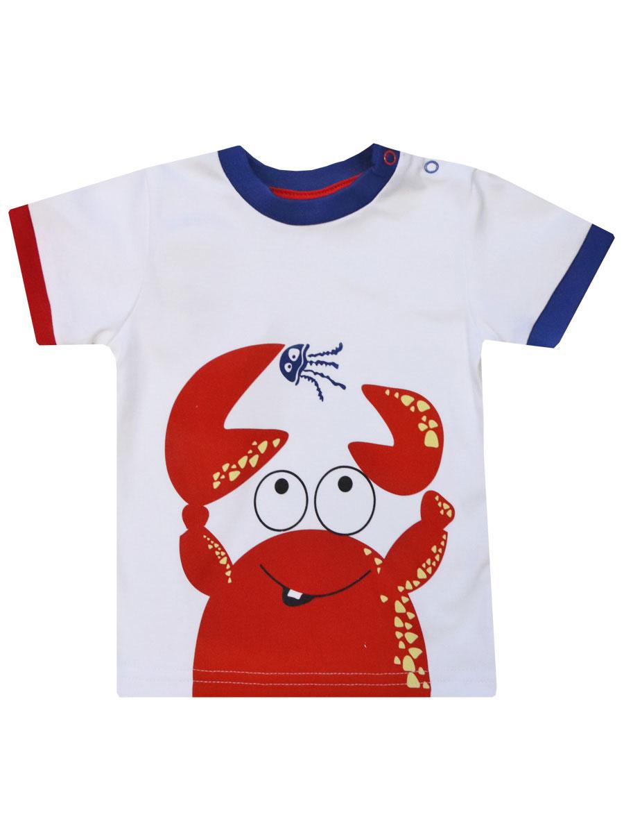 Купить 77204, Футболка Крабики , 86 р-р, КотМарКот, Кофточки, футболки для новорожденных
