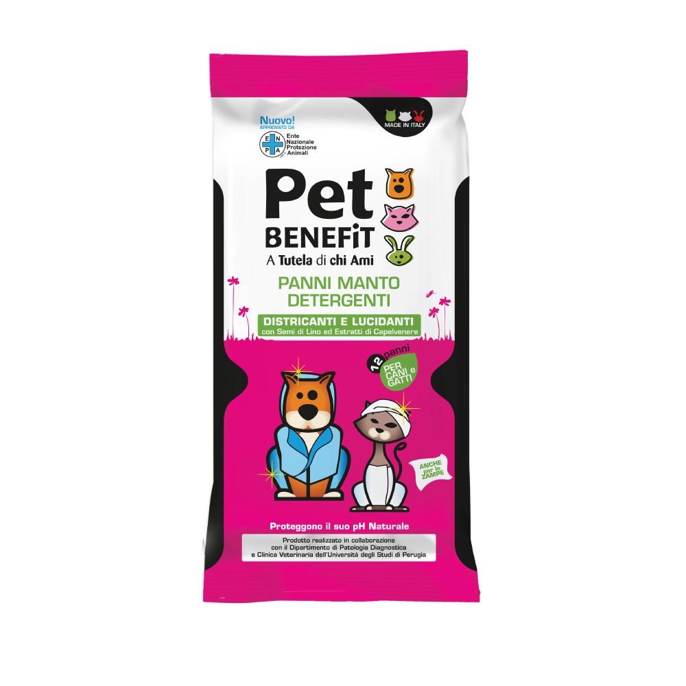 Влажные салфетки для животных Pet Benefit, для ухода за шерстью, 12шт.