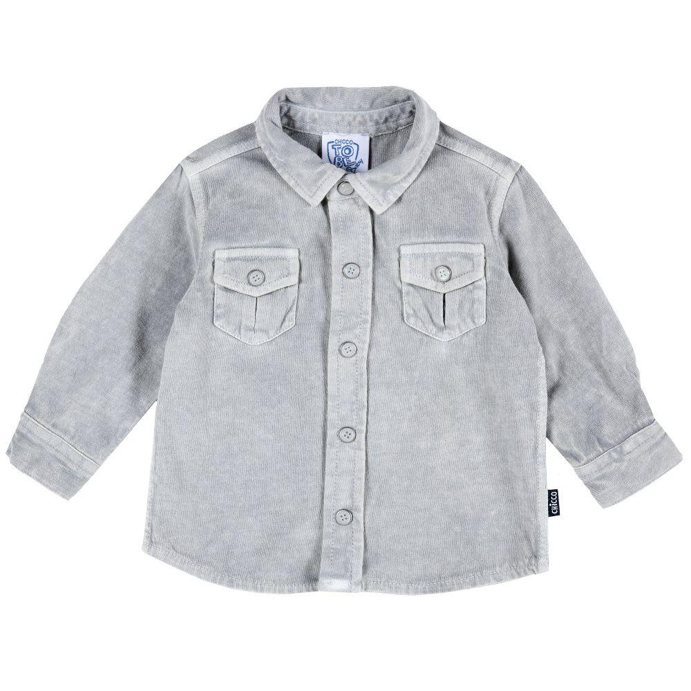 Купить 9054409, Рубашка Chicco трикотажная р.092 цвет серый, Кофточки, футболки для новорожденных
