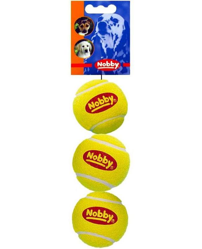 Апорт для собак Nobby Мяч теннисный, желтый,