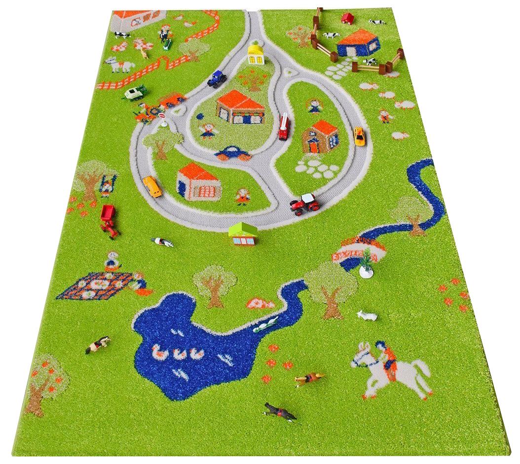 """Детский игровой 3D-ковер """"Дача"""", 134 х 180 см IVI"""