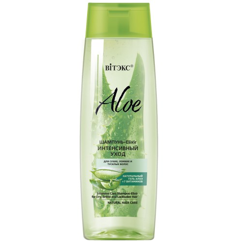 Шампунь Витэкс Aloe Elixir интенсивный уход для сухих, ломких и тусклых волос 400 мл