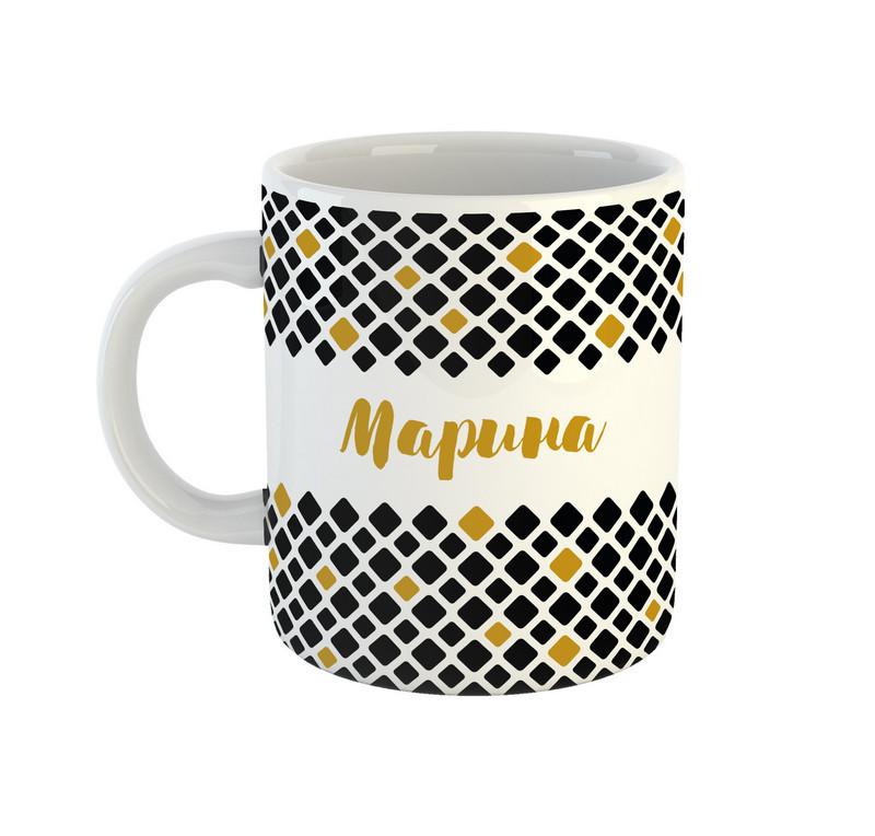 Кружка Be Happy именная Марина