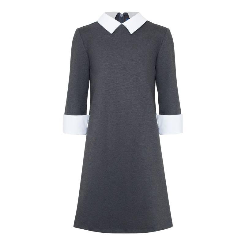 Купить Платье Смена, цв. серый, 134 р-р, Детские платья и сарафаны