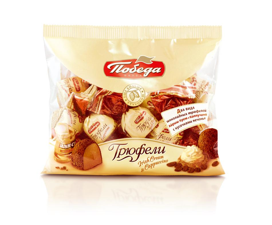 Трюфели шоколадные Победа Вкуса каппучино и айриш крем фото