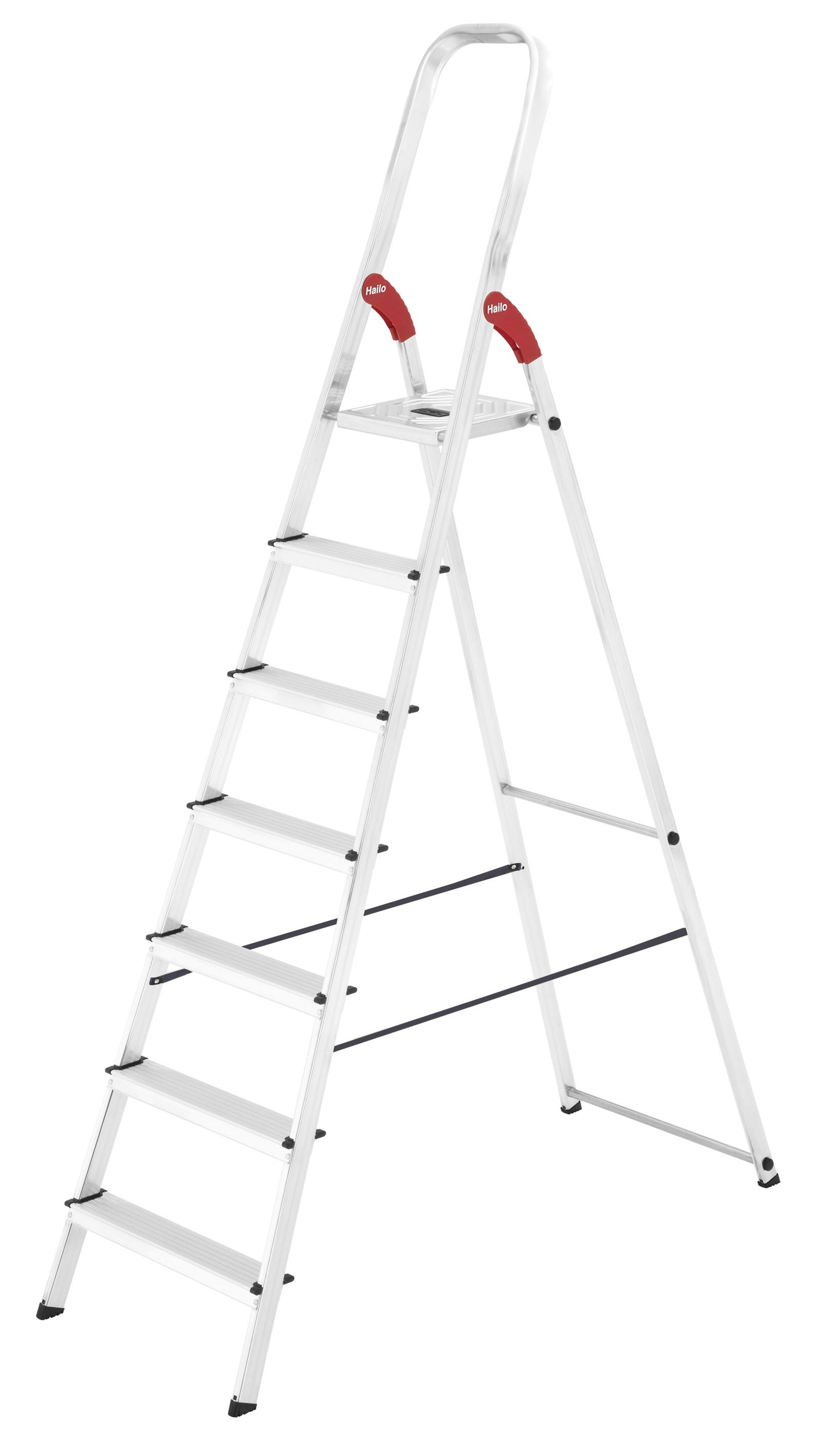Стремянка алюминиевая Hailo L9, 7 ступеней