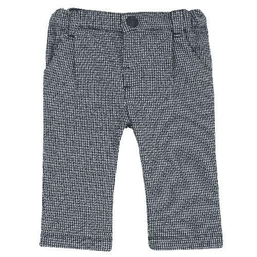 Купить 9008033, Брюки Chicco Мелкая клетка для мальчиков р.86 цв.темно-синий, Детские брюки и шорты