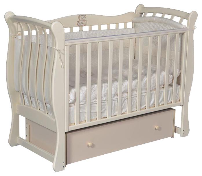 Кровать детская Антел Luiza 3 Автостенка универсальный маятник закр. ящик слоновая кость