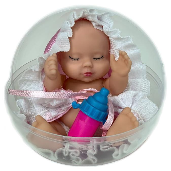 Купить Спящий пупс Город игр Anna De Wailly в шаре розовое одеялко, Город Игр, Пупсы