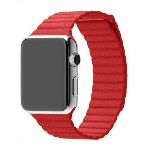 Ремешок GoodChoice Leather для Apple Watch 42-44mm Red  - купить со скидкой