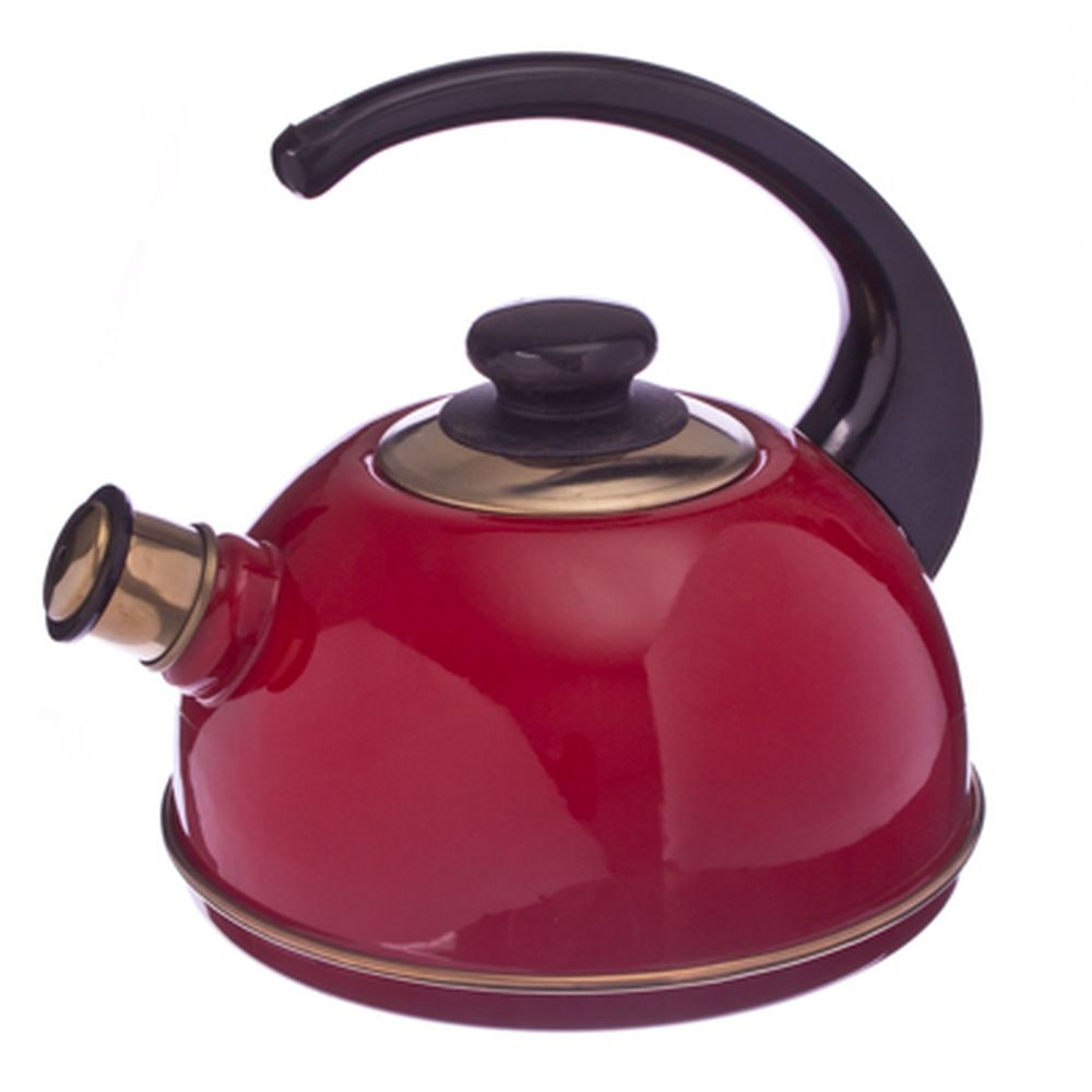 Чайник эмалированный 2,5л бордо