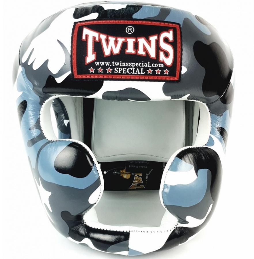 Боксерский шлем Twins FHGL3 AR серый