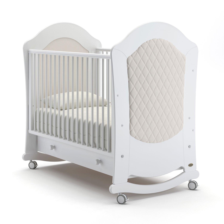 Детская кровать Nuovita Tempi dondolo Bianco, Белый фото